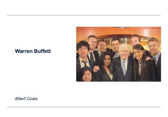 Warren Buffett Albert Costa