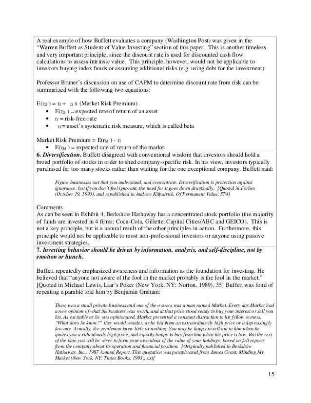 Warren Buffett And Geico Case Study