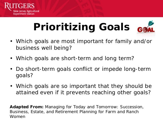Goal-Setting Presentation for Personal and Farm Business Goals