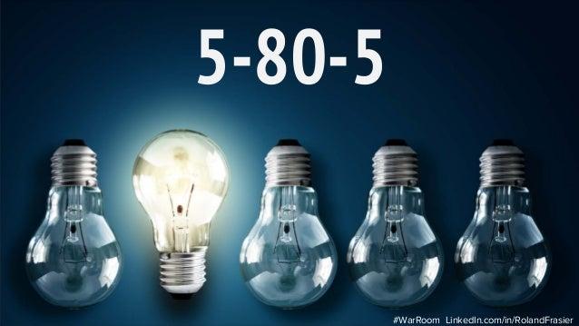 5-80-5 #WarRoom LinkedIn.com/in/RolandFrasier