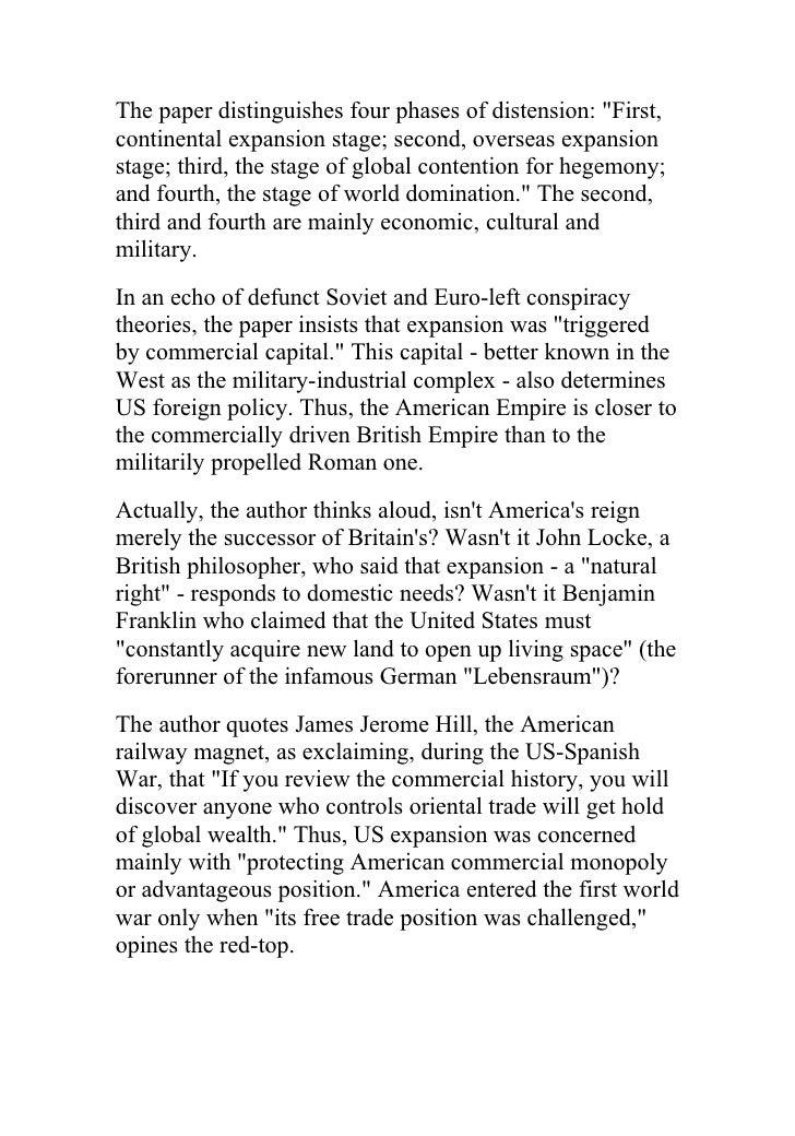 Overseas empire essay