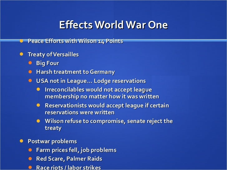 the great war and its consequences essay World war i: causes and effects i causes of world war i ii modern war, technology and the  challenged great powers (france, great britain,  events leading to.