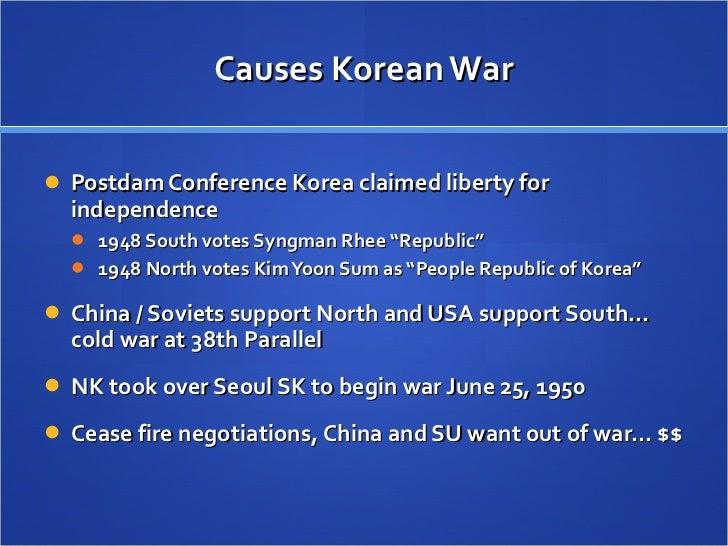 causes korean war