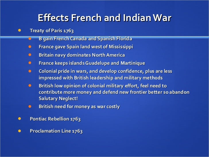 an analysis of the causes and outcomes of the french and indian war Facts, information and articles about the french and indian war, an event of the wild west french indian war facts dates 1756 – 1763 location north america outcome.