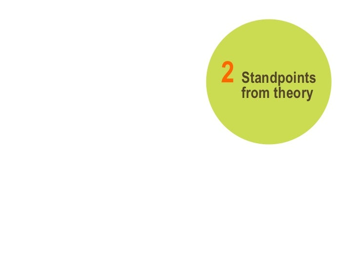 Standpoints from theory 2