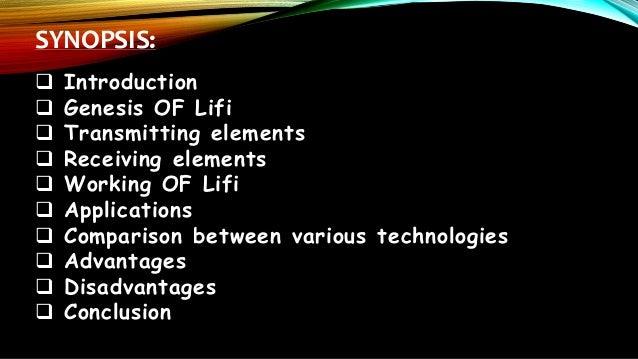 advantages and disadvantages of li fi technology pdf