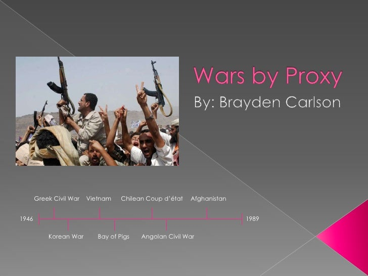 Wars by Proxy<br />By: Brayden Carlson<br />Greek Civil War<br />Vietnam<br />Chilean Coup d'état<br />Afghanistan <br />1...