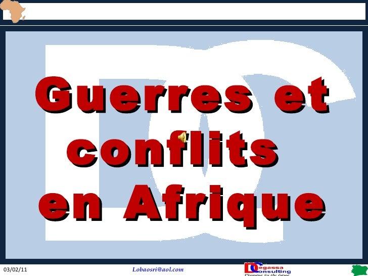 Guerres et conflits  en Afrique