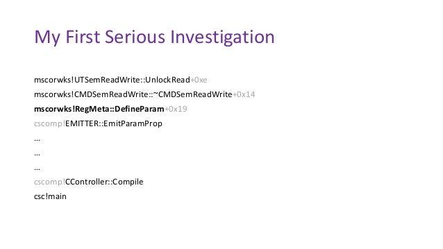 mscorwks!UTSemReadWrite::UnlockRead+0xe mscorwks!CMDSemReadWrite::~CMDSemReadWrite+0x14 mscorwks!RegMeta::DefineParam+0x19...