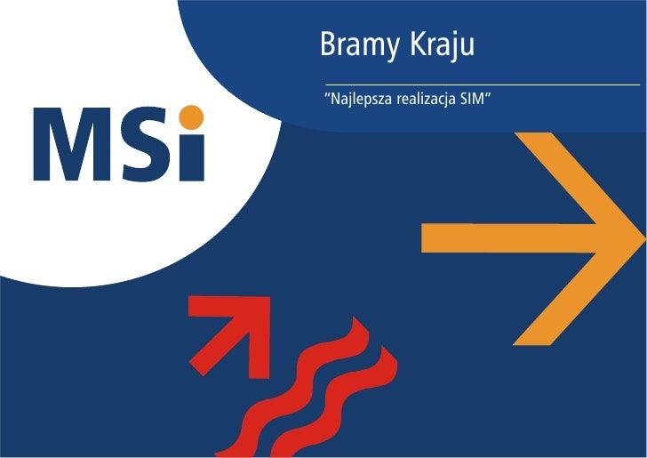 """Bramy Kraju """"Najlepsza realizacja SIM"""""""