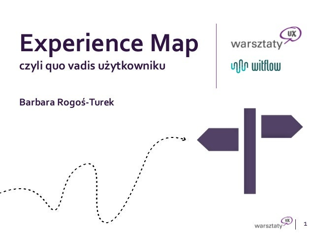 1 Experience Map czyli quo vadis użytkowniku Barbara Rogoś-Turek