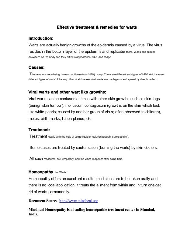 warts treatment - removal of genital warts & symptoms - mindheal home…