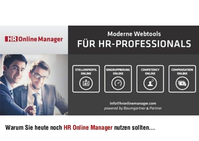 Seite 1 Warum Sie heute noch HR Online Manager nutzen sollten…