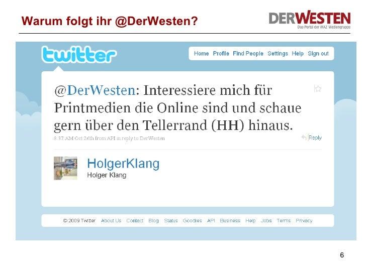 Warum folgt ihr @DerWesten?