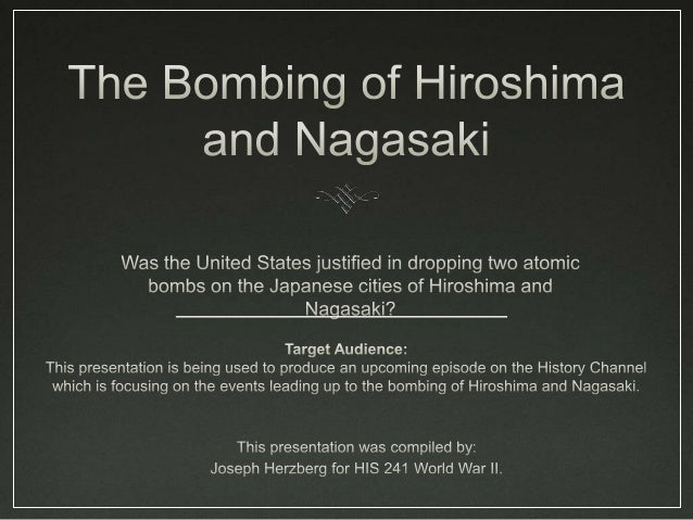 The End ofWorld War IIMushroom cloud over Nagasaki 1On August 6, 1945, the first atomic bombwas dropped on the Japanese ci...