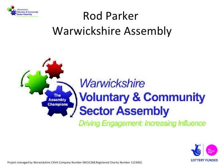 Rod Parker  Warwickshire Assembly