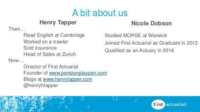 A career as an actuary