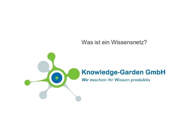 Was ist ein Wissensnetz?