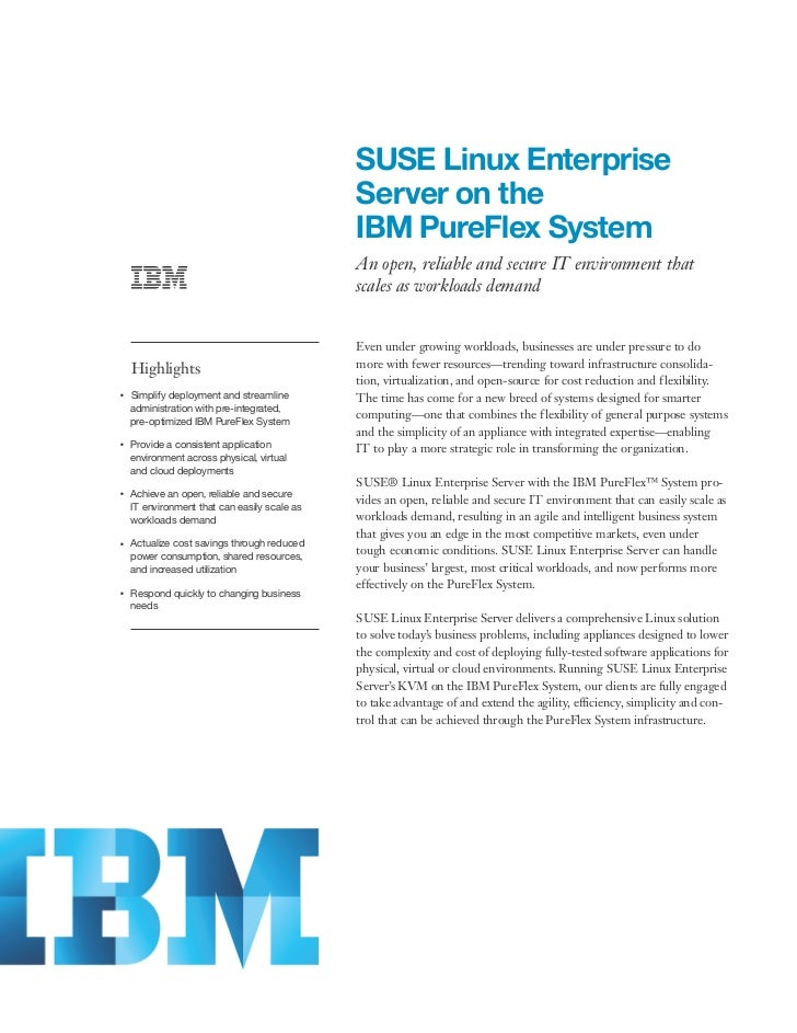 SUSE Linux Enterprise                                                     Server on the                                   ...