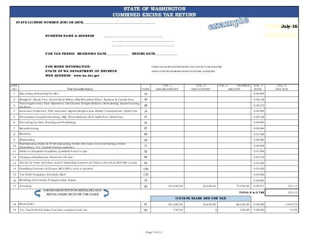 Wa Sales Boand Use Tax