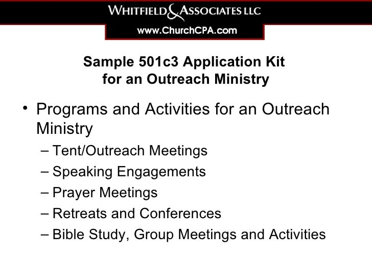 sample-501c3-application-kit-for-an-outreach-ministry-3-728 Sample Application Form For A Of Ministry on for upng, renew a passport, for business, bridge 2rwanda, auto loan, blank job, high school,