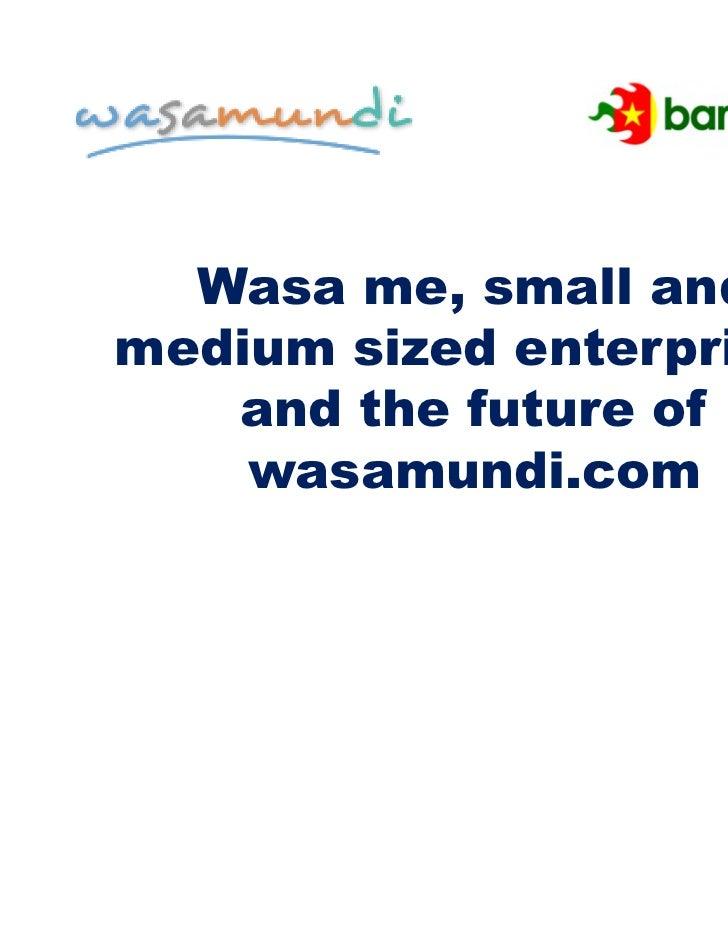 Wasa me, small andmedium sized enterprises   and the future of    wasamundi.com