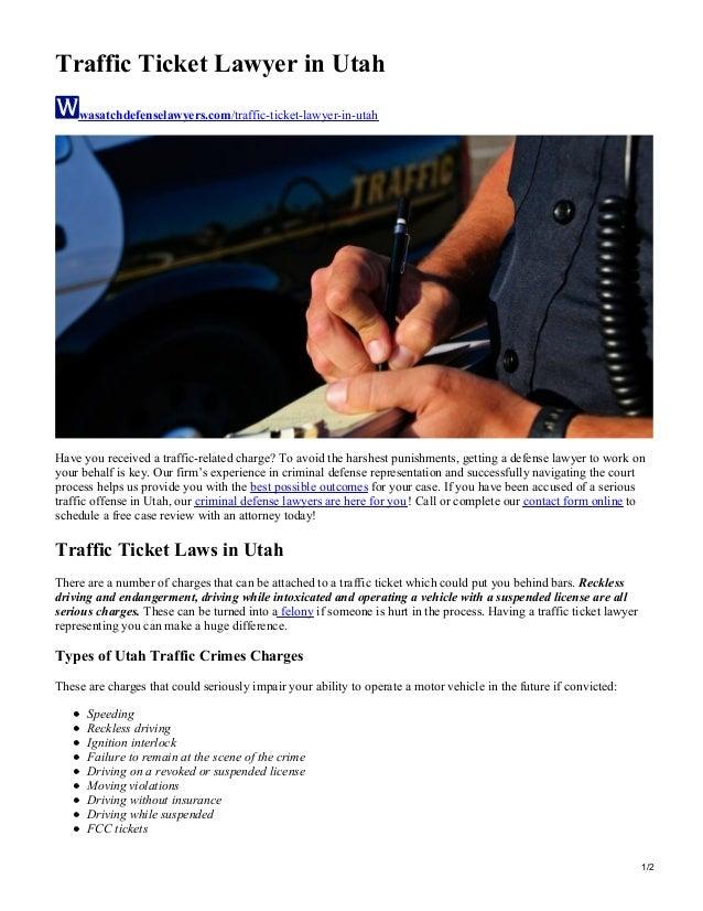 Traffic Ticket Lawyer in Utah