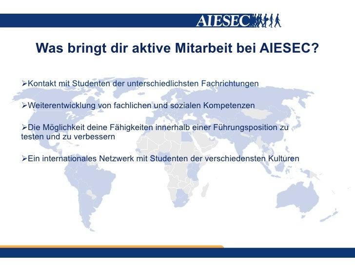 Was bietet dir AIESEC? Slide 3