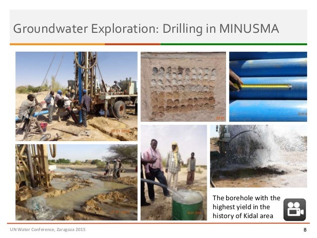 8 The borehole with the highest yield in the history of Kidal area Groundwater Exploration: Drilling in MINUSMA UN Water C...