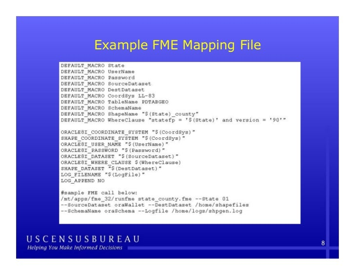 Using FME to Convert TIGER Spatial Data From Oracle Spatial