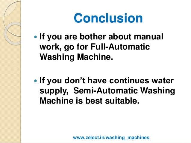 Semi Automatic Washing Machine Vs Fully Automatic Washing