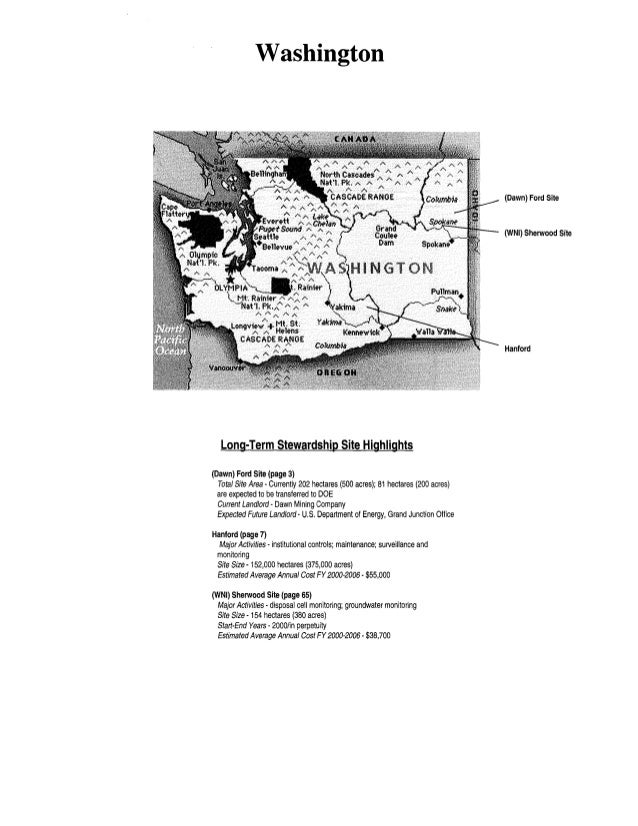 Washington Long-Term Stewardship Site Highlights (Dawn) Ford Site (page 3) Total Site Area- Currently 202 hectares (500 ac...