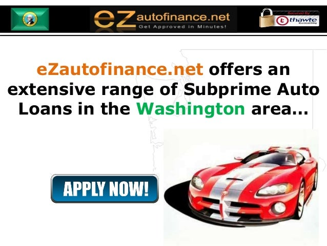 Washington Auto Loans - Forget Your Bad Credit or No Credit Score and… slideshare - 웹