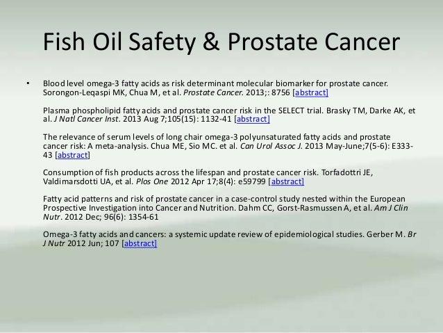 Does omega 3 fish oil cause cancer all the best fish in 2018 for Fish oil prostate cancer