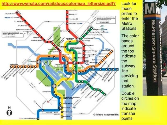 Washington dc map metro pdf