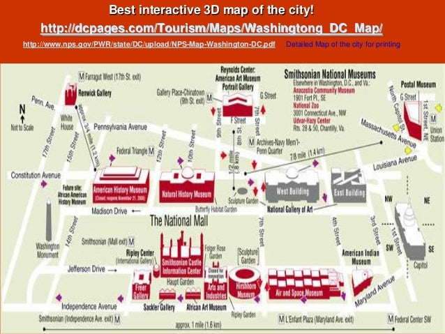 Washington DC Visitors Guide – Washington Dc Tourist Map Pdf