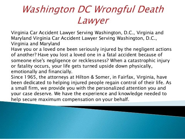 Virginia Car Accident Lawyer Serving Washington, D.C., Virginia and Maryland Virginia Car Accident Lawyer Serving Washingt...