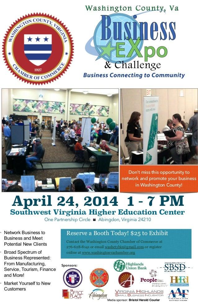 April 24, 2014 1 - 7 PM Southwest Virginia Higher Education Center One Partnership Circle ▪ ️ Abingdon, Virginia 24210 Res...