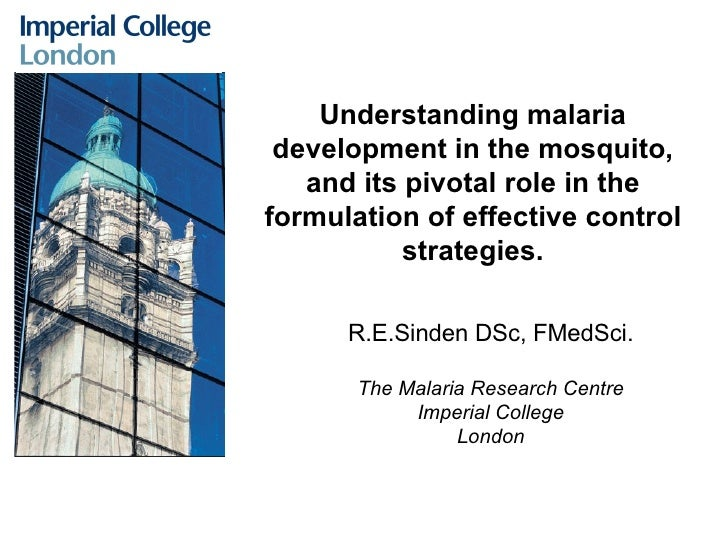 Understanding malaria development in the mosquito, and its pivotal role in the formulation of effective control strategies...