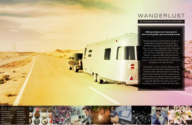 W A N D E R LU S T an irresistable desire to connect with others entreprenual civic-minded community seeker adventure seek...