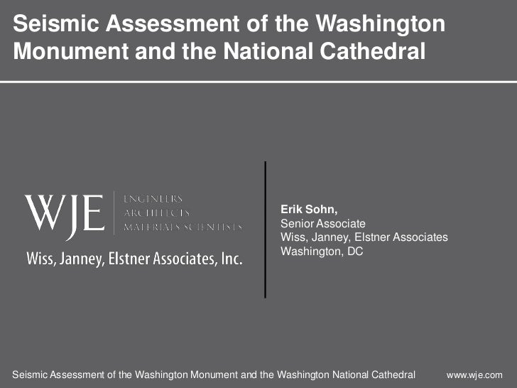 Seismic Assessment of the WashingtonMonument and the National Cathedral                                                   ...