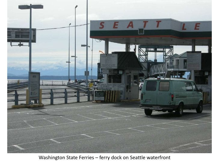 Washington State Ferries – ferry dock on Seattle waterfront<br />