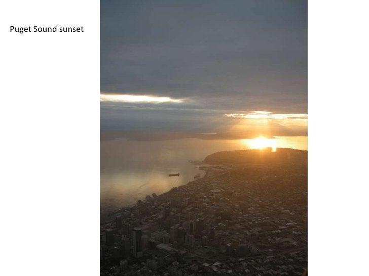 Puget Sound sunset<br />