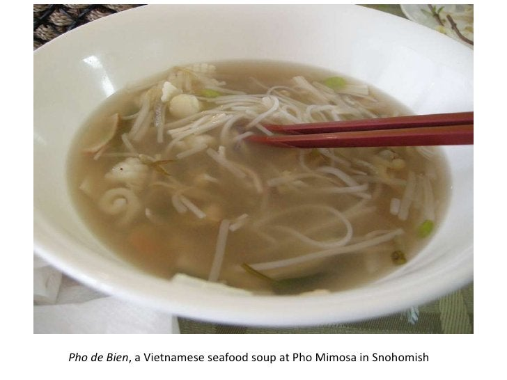 Pho de Bien, a Vietnamese seafood soup at Pho Mimosa in Snohomish<br />