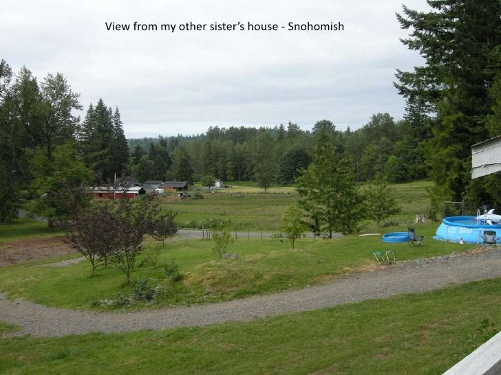 View from my other sister's house - Snohomish<br />