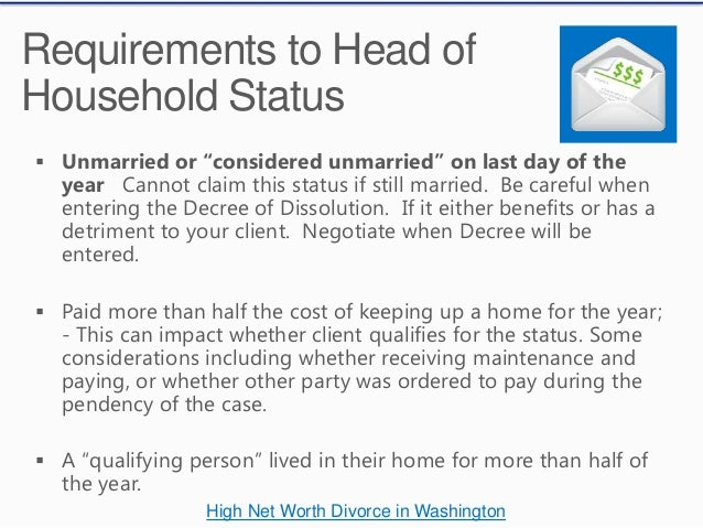 Tax Consquences in Divorce in Washington State
