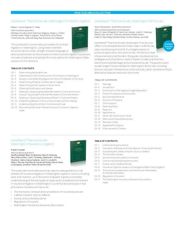 Washington state practice guides