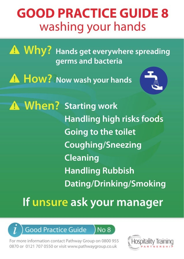 Washing your Hands - Hospitality Training Partnership Guidelines to Health & Safety
