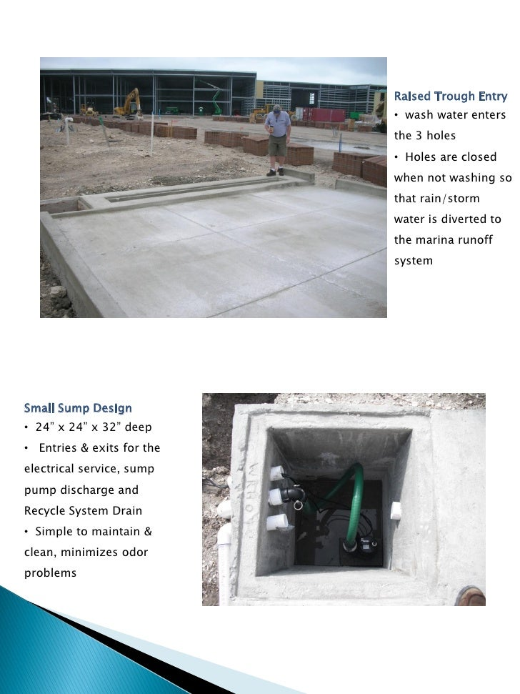 Boat Washpad Designs To Meet NPDES