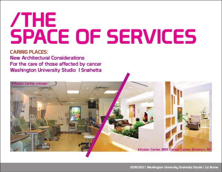 /THESPACE OF SERVICESCARING PLACES:New Architectural ConsiderationsFor the care of those affected by cancerWashington Univ...